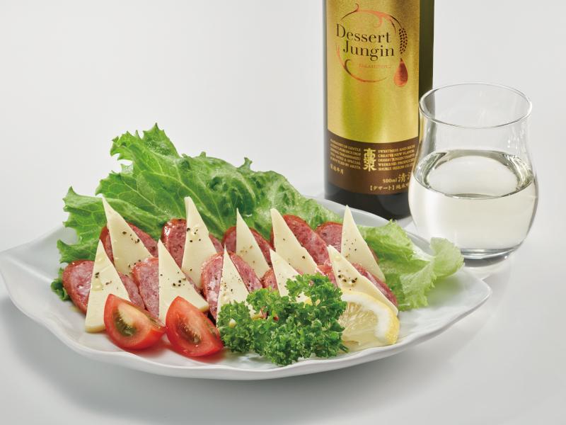 デザート純吟 × チーズ&サラミ