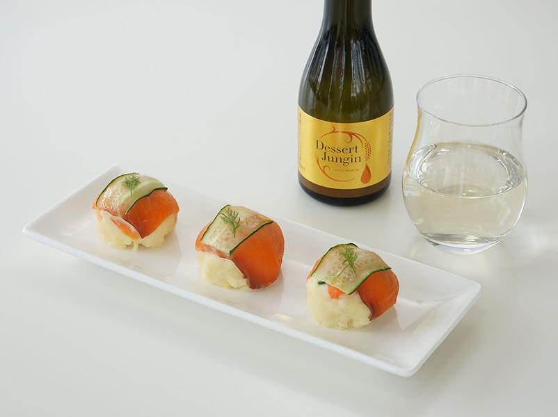 デザート純吟 × 手まりサーモンポテト